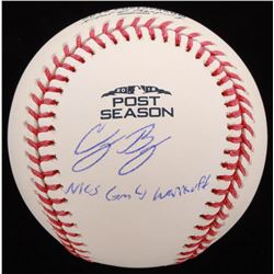 Cody Bellinger Signed 2018 Post Season Baseball with Inscription (MLB Hologram  Fanatics Hologram)
