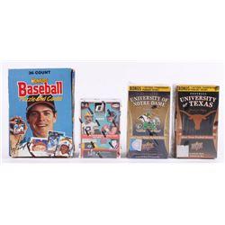 Lot of (4) Card Sets with 1988 Donruss Baseball Box, 2011 University of Texas Upper Deck Football Ca