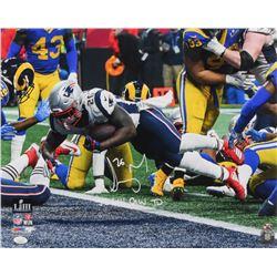 """Sony Michel Signed New England Patriots 16x20 Photo Inscribed """"SB LIII GW TD"""" (JSA COA  Sure Shot Pr"""