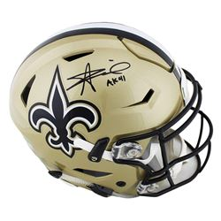 "Alvin Kamara Signed New Orleans Saints Full-Size Authentic On-Field SpeedFlex Helmet Inscribed ""AK 4"