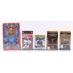 Lot of (5) Card Sets with 1992 Upper Deck Baseball, 2014-15 Upper Deck MVP Hockey, 2011 Panini Score