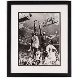 Bill Russell  Wilt Chamberlain Signed 16.5x19.5 Custom Framed Photo Display (Beckett LOA)