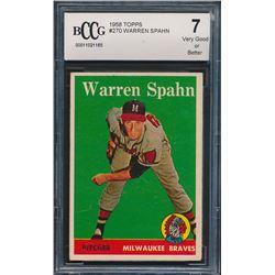 1958 Topps #270 Warren Spahn (BCCG 7)