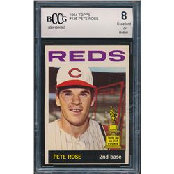 1964 Topps #125 Pete Rose (BCCG 8)