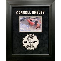 Carroll Shelby Signed 19x23 Custom Framed Photo (JSA COA)