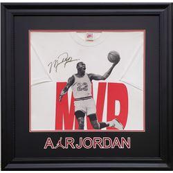 Michael Jordan Signed 29x29 Custom Framed Shirt (JSA LOA)