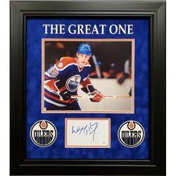 Wayne Gretzky Signed 17x19 Custom Framed Cut Display (JSA COA)