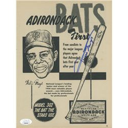"Willie Mays Signed ""Adirondack Bats"" 8.25x10.5 Printed Adertisement (JSA COA)"