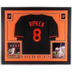 Cal Ripken Jr. Signed Baltimore Orioles 35x43 Custom Framed Jersey (JSA COA)