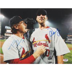 Tony La Russa  Adam Wainwright Signed St. Louis Cardinals 11x14 Photo (PSA COA)