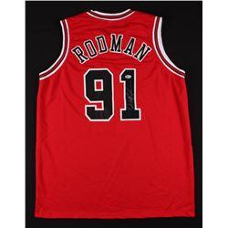 Dennis Rodman Signed Chicago Bulls Jersey (Beckett Hologram)