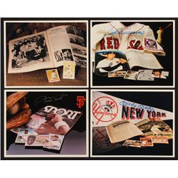 Lot of (4) MLB Hall of Famers 8x10 Photos Signed by (4) with Mickey Mantle, Ted Williams, Willie May