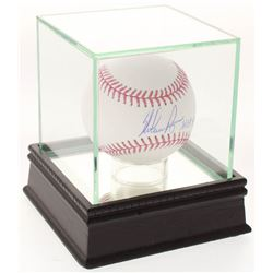 "Nolan Ryan Signed OML Baseball Inscribed ""H.O.F. '99"" with High-Quality Display Case (PSA COA)"
