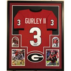 Todd Gurley Signed Georgia Bulldogs 34x42 Custom Framed Jersey Display (PSA COA)