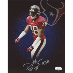 DeMarcus Faggins Signed Houston Texans 8x10 Photo (JSA COA)