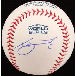 Xander Bogaerts Signed 2018 World Series Baseball (MLB Hologram)