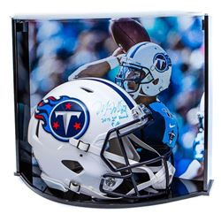 "Marcus Mariota Signed LE Tenessee Titans Full-Size Authentic On-Field Speed Helmet Inscribed ""2015 1"