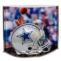 "Jay Novacek Signed LE Dallas Cowboys Full-Size Authentic On-Field Helmet Inscribed ""3X SB Champs"" wi"
