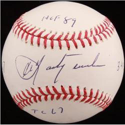 Carl Yastrzemski Signed OML Baseball with (4) Inscriptions (PSA COA - Graded 9.5)