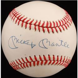 Mickey Mantle Signed OAL Baseball (SGC Hologram)