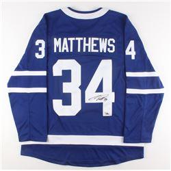 Auston Matthews Signed Toronto Maple Leafs Jersey (Fanatics Hologram)