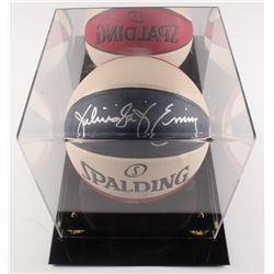 """Julius Erving Signed Spalding Basketball Inscribed """"Dr. J"""" with Display Case (PSA LOA)"""