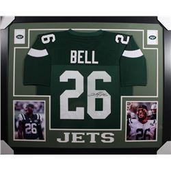 Le'Veon Bell Signed New York Jets 35x43 Custom Framed Jersey (JSA COA)