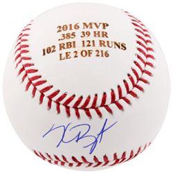 Kris Bryant Signed LE Laser Engraved 2016 MVP Baseball (Fanatics Hologram  MLB Hologram)