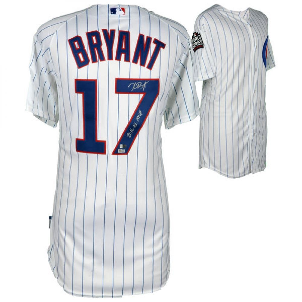 best service 5eb57 788a9 Kris Bryant Signed Chicago Cubs 2016 World Series Jersey ...