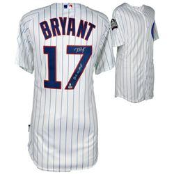 "Kris Bryant Signed Chicago Cubs 2016 World Series Jersey Inscribed ""2016 NL MVP"" (Fanatics Hologram"