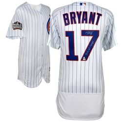 """Kris Bryant Signed Chicago Cubs 2016 World Series Jersey Inscribed """"2016 WS Champs"""" (Fanatics Hologr"""