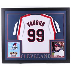 """Charlie Sheen Signed Cleveland Indians """"Major League"""" 35x43 Custom Framed Jersey (JSA COA)"""