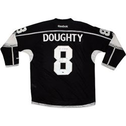 """Drew Doughty Signed Los Angeles Kings 2014 Stanley Cup Jersey Inscribed """"14 SC Champs"""" (Steiner COA)"""
