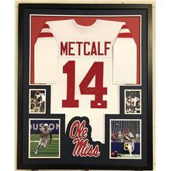 D.K. Metcalf Signed Ole Miss Rebels 34x42 Custom Framed Jersey (JSA COA)