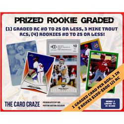 "The Card Craze ""Prized Rookie Graded"" Mystery Pack (1 in 2 Packs includes $100-$500 1/1 Rookie)"