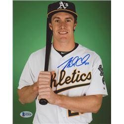 Mark Canha Signed Oakland Athletics 8x10 Photo (Beckett COA)