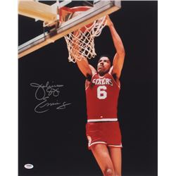 Julius Erving Signed Philadelphia 76ers 16x20 Photo (PSA COA)