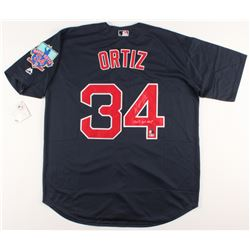 "David Ortiz Signed Boston Red Sox Jersey With David Ortiz Final Season Patch Inscribed ""2013 WS MVP"""