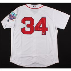 "David Ortiz Signed Boston Red Sox Jersey With David Ortiz Final Season Patch Inscribed ""Big Papi"" (S"