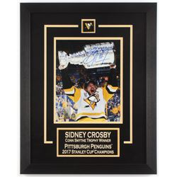 Sidney Crosby Signed Pittsburgh Penguins 16x20 Custom Framed Photo (Frameworth COA)