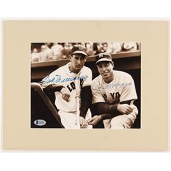 Joe DiMaggio  Ted Williams Signed 11x14 Custom Matted Photo Display (Beckett LOA)