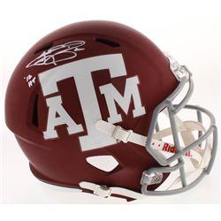 "Johnny Manziel Signed Texas AM Aggies Full-Size Speed Helmet Inscribed ""'12 HT"" (JSA COA)"
