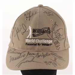 Williams World Challenge Golf Hat Signed by (13) with Tiger Woods, Phil Mickelson, Vijay Singh, Mark