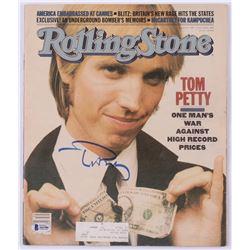 "Tom Petty Signed 1981 ""Rolling Stone"" Magazine (Beckett LOA)"