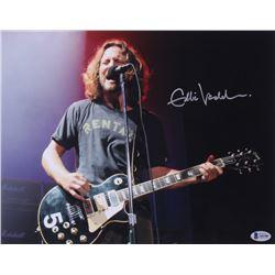 "Eddie Vedder Signed ""Pearl Jam"" 11x14 Photo (Beckett LOA)"