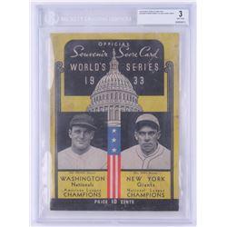 Vintage 1933 World Series Program (BGS 3)