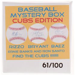 Baseball Cubs Edition Mystery Box - Autographed Baseball Series, Find the Cubs!