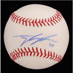 Tyler Skaggs Signed OML Baseball (Beckett COA)