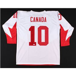"Dennis Hull Signed Team Canada Jersey Inscribed ""Game 8 9/28/72"" (JSA COA)"