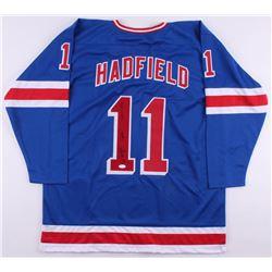 "Vic Hadfield Signed New York Rangers Captain Jersey Inscribed ""Captain""  ""1971-1974"" (JSA COA)"